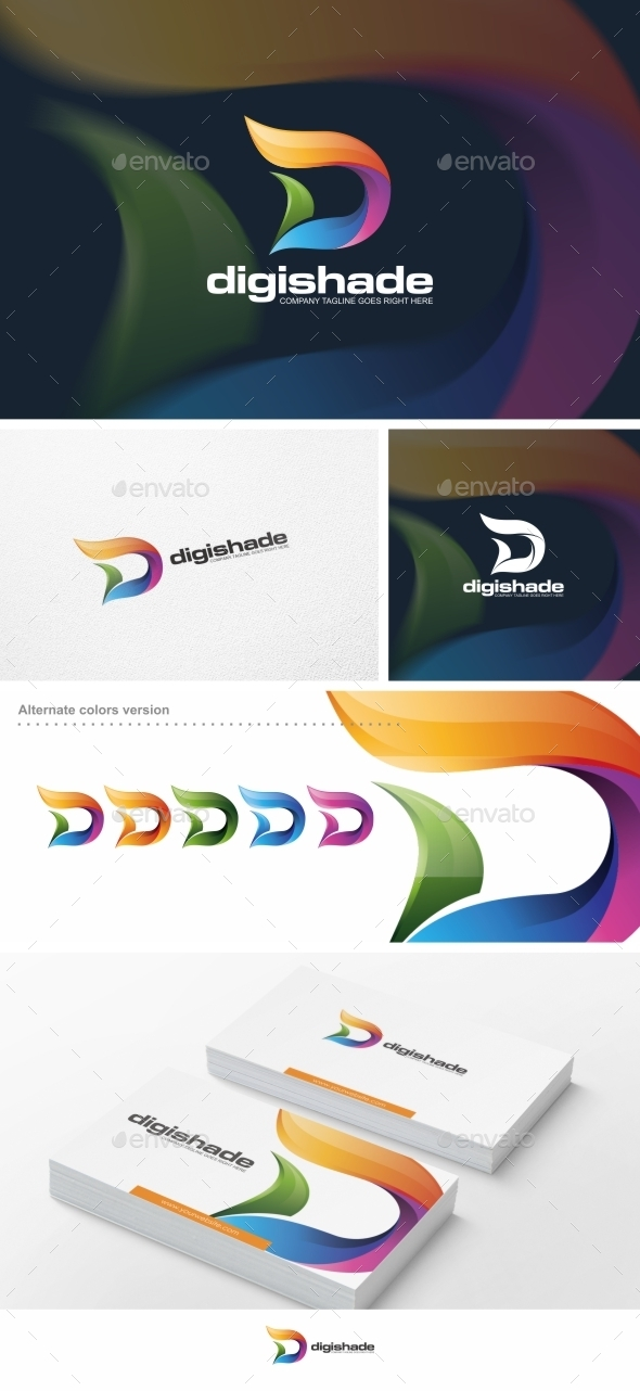 Abstract D Letter - Logo Template - Letters Logo Templates