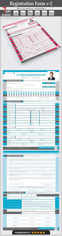 Registration Form v-2 - Miscellaneous Print Templates