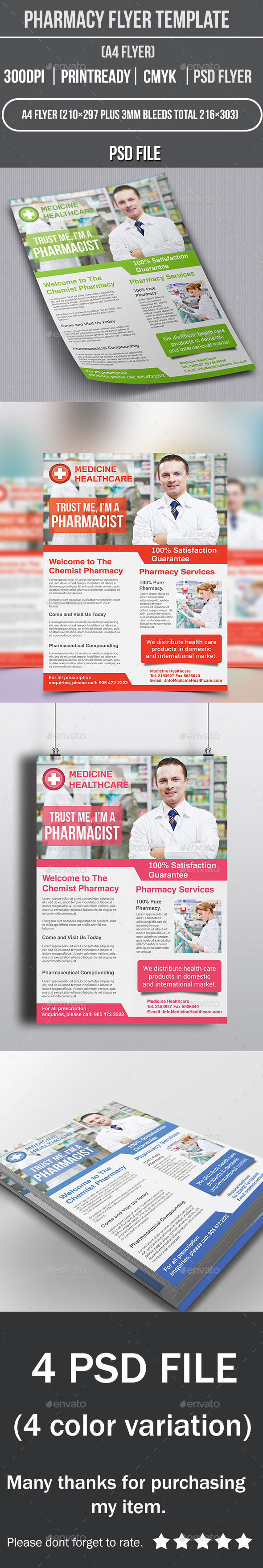 Pharmacy Flyer Template - Corporate Flyers