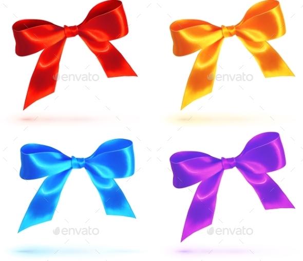 Bright Colorful Bows Set - Birthdays Seasons/Holidays