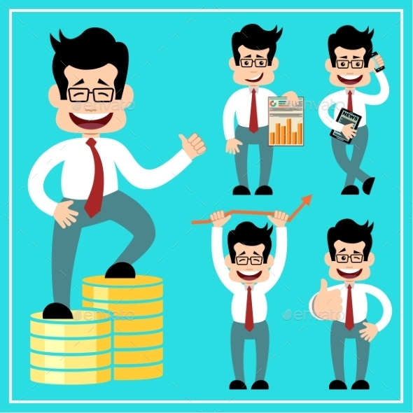 Cartoon Businessman - Business Conceptual