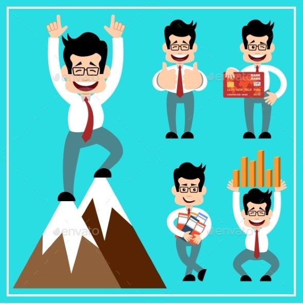 Cartoon Businessman - Business Conceptual