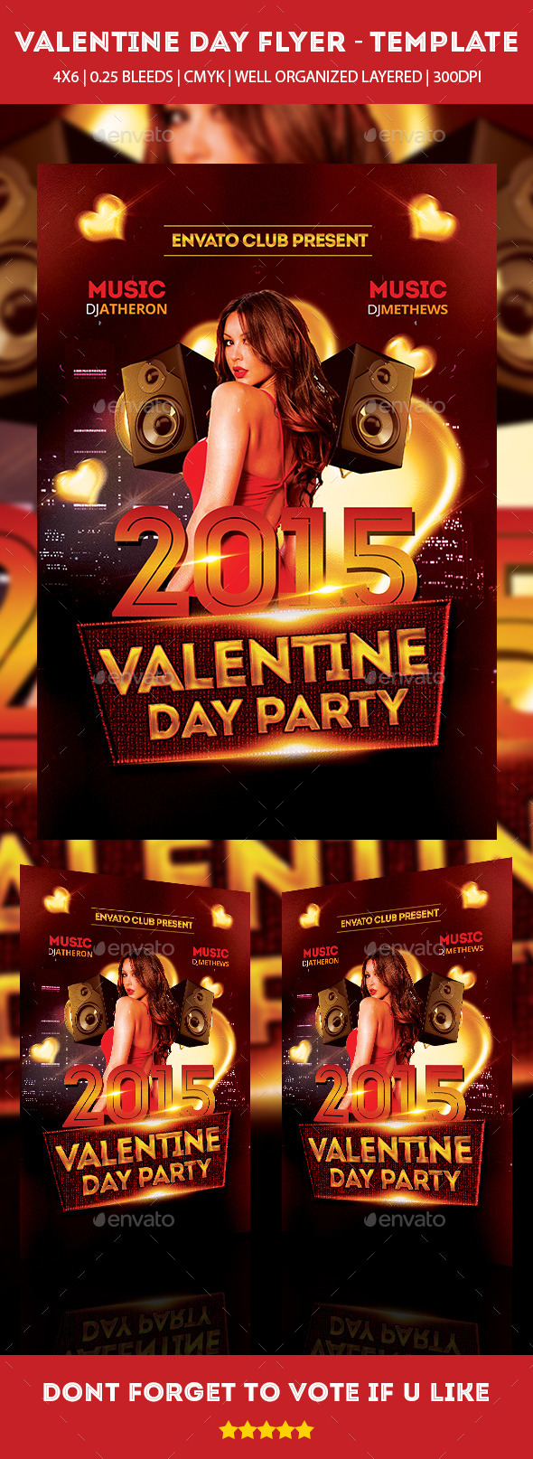 Valentine Day Party 2015 Flyer - Clubs & Parties Events