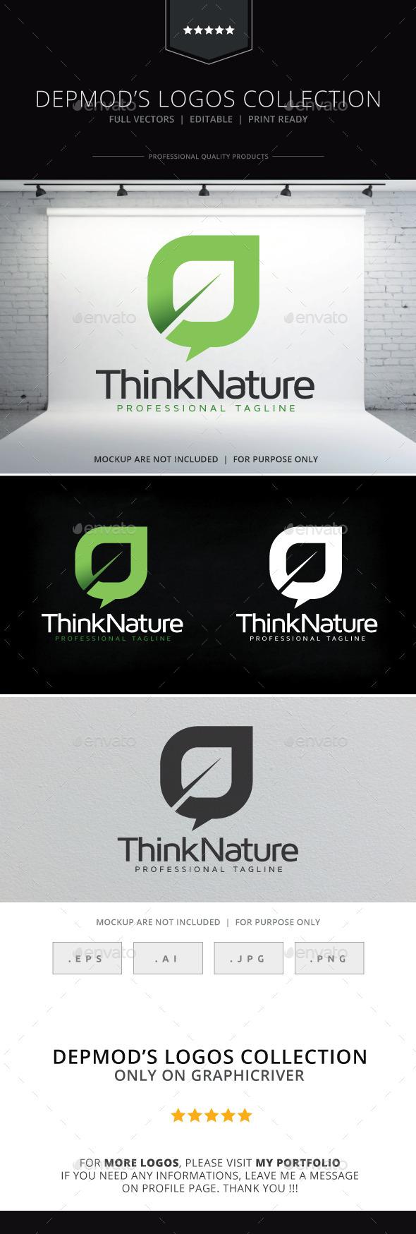 Think Nature Logo - Nature Logo Templates
