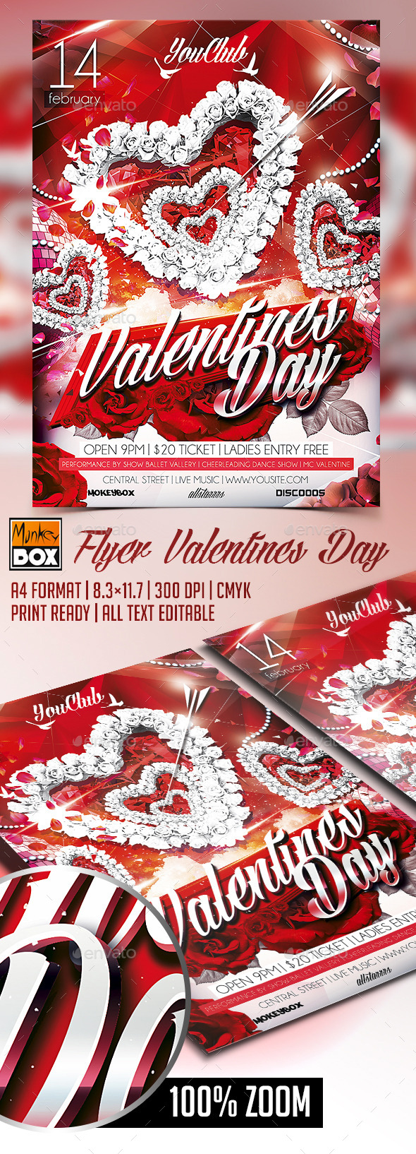 Flyer Valentines Day - Flyers Print Templates