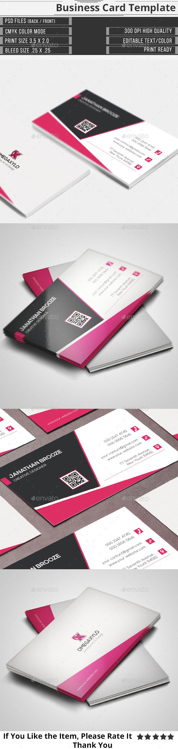 Clean Corporate Business Card - Corporate Business Cards