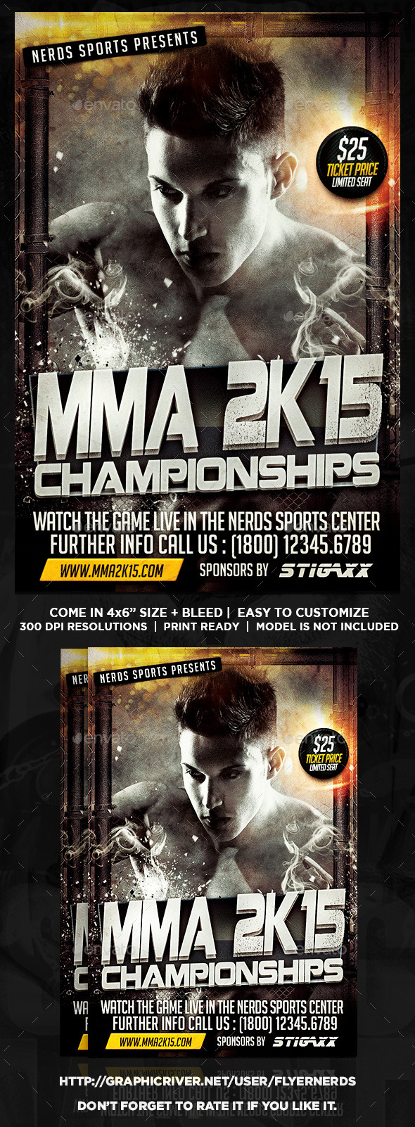 MMA 2K15 Championships Sports Flyer - Sports Events