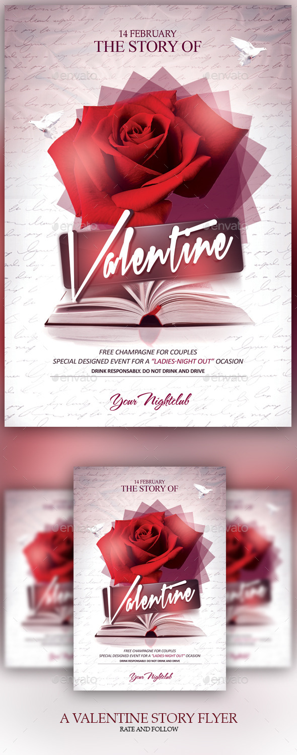 A Valentine Story - Events Flyers