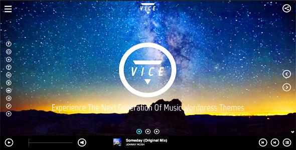 Vice: Music, Dj and Music Band WordPress Theme