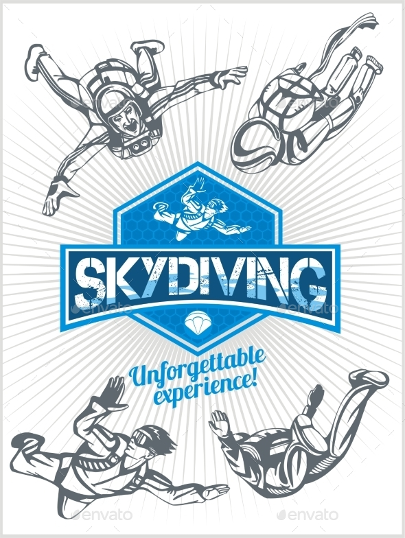 Skydiving Set - Sports/Activity Conceptual