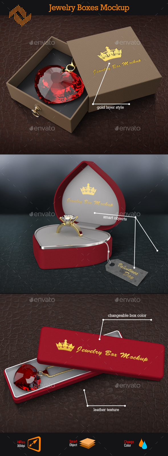 Jewelry Box \ Logo Mockup - Packaging Product Mock-Ups