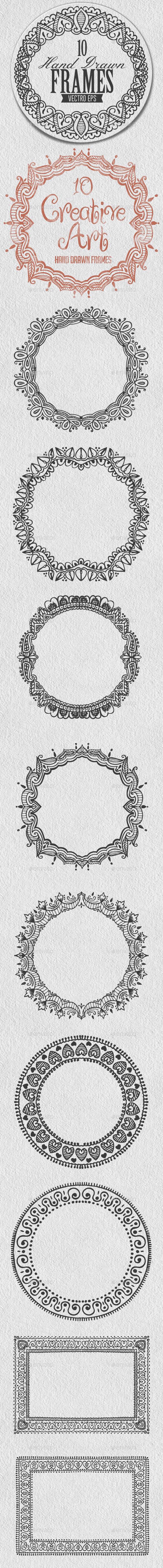 Hand Drawn Frames - Decorative Vectors