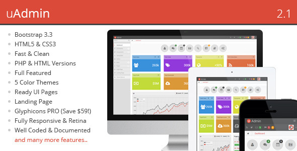 uAdmin – Responsive Admin Dashboard Template