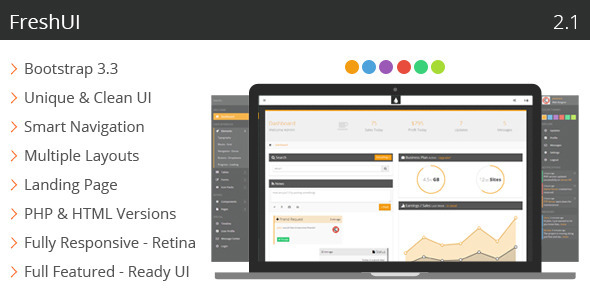 FreshUI – Premium Web App and Admin Template