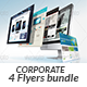 Website Design Agency 4 Flyer Bundle - GraphicRiver Item for Sale