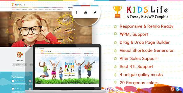 15+ Kindergarten and Elementary School WordPress Themes 2019 15