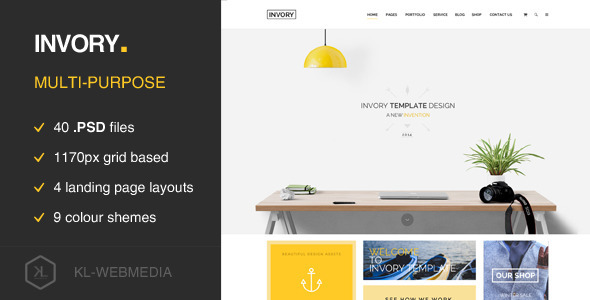 Invory – Multi Purpose PSD Template