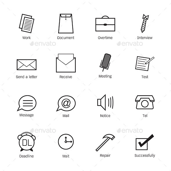 Business and work Icons - Business Conceptual