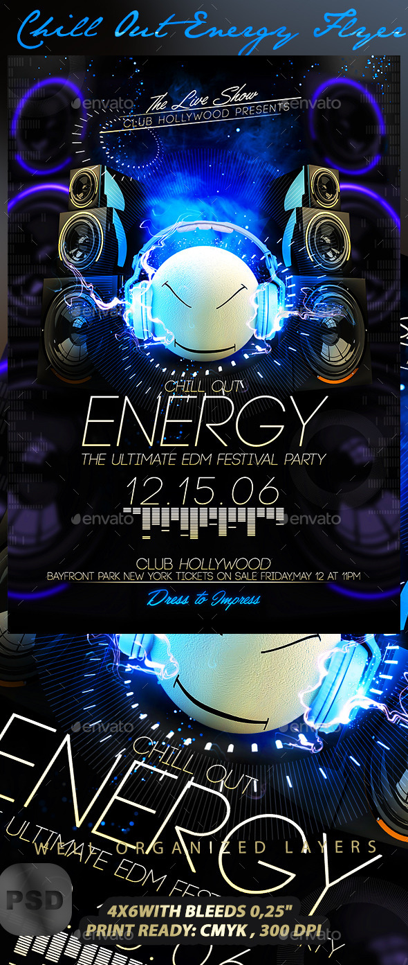 Chill Out Energy Flyer - Events Flyers