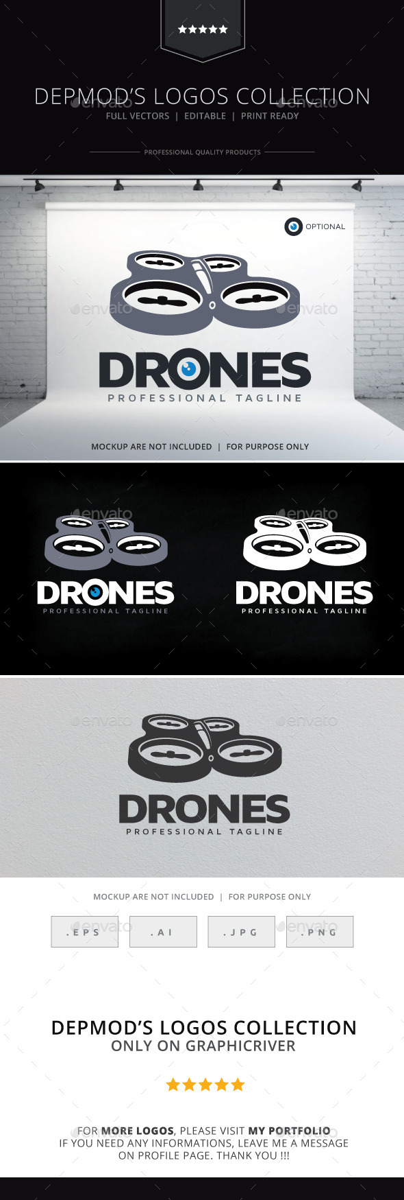 Drones Logo - Objects Logo Templates
