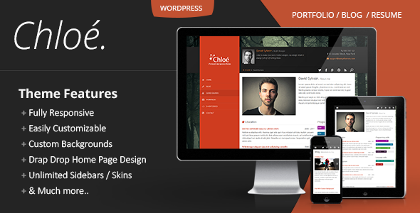 Chloe – Personal Portfolio WordPress Theme
