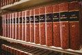 Close up of a lot of law reports in library - PhotoDune Item for Sale