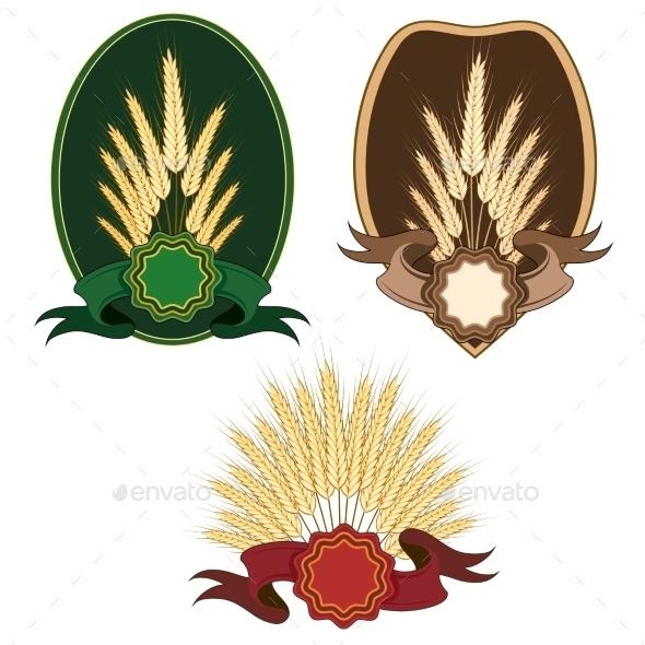 Ears Label Set - Decorative Symbols Decorative