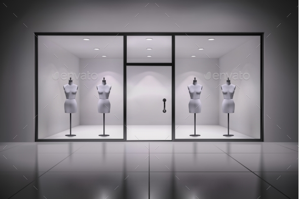 Store Interior With Mannequins - Miscellaneous Vectors