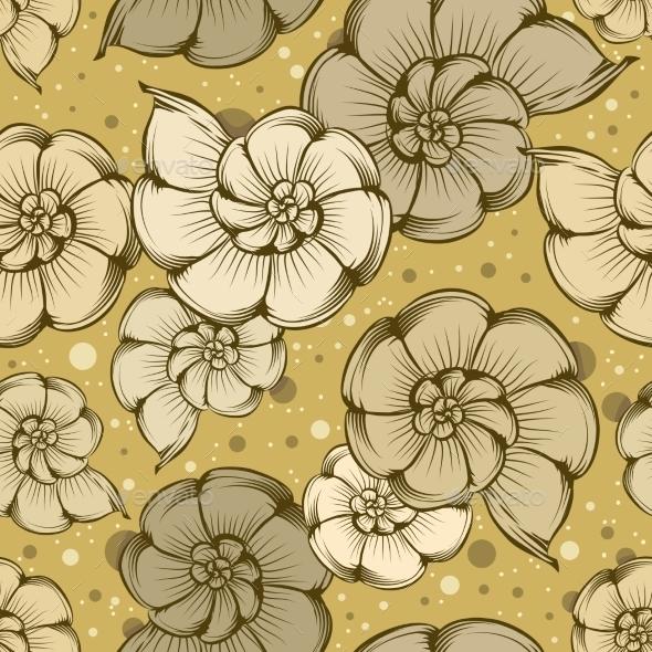 Nautilus Shells Pattern - Backgrounds Decorative