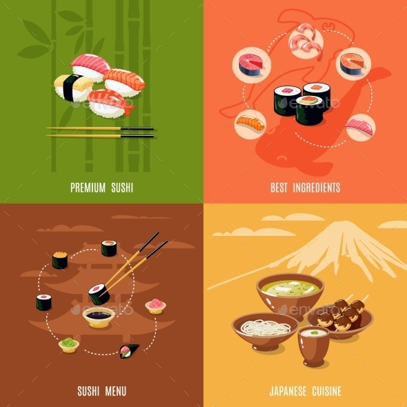 Asian Food Design Concept - Food Objects