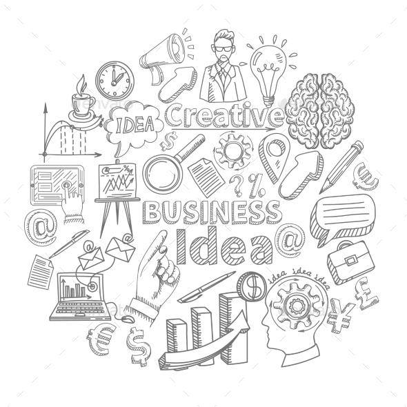 Creative Icon Doodle - Business Conceptual