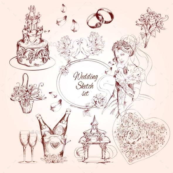 Wedding Sketch Set - Weddings Seasons/Holidays