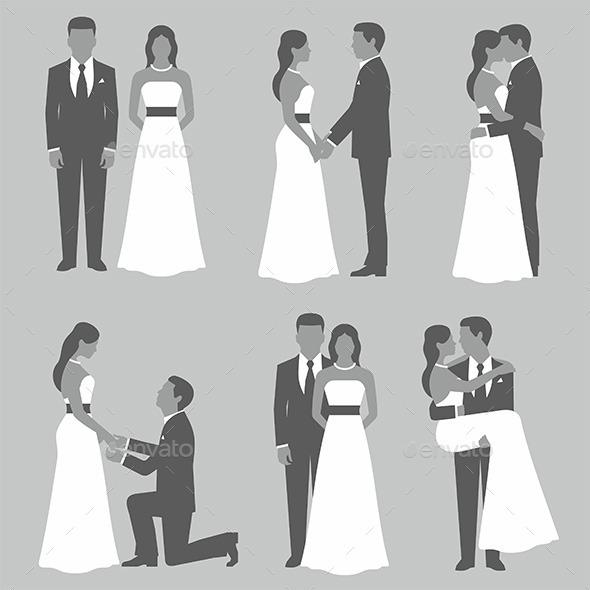 Set of Bride and Grooms - Weddings Seasons/Holidays