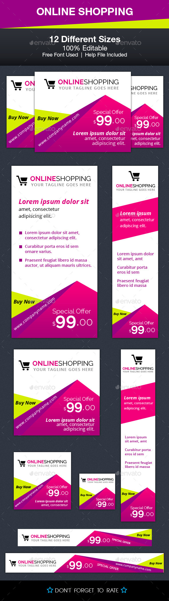Online Shopping Ad Banners - Banners & Ads Web Elements