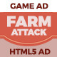 FarmAttack HTML5 Game Ad - CodeCanyon Item for Sale
