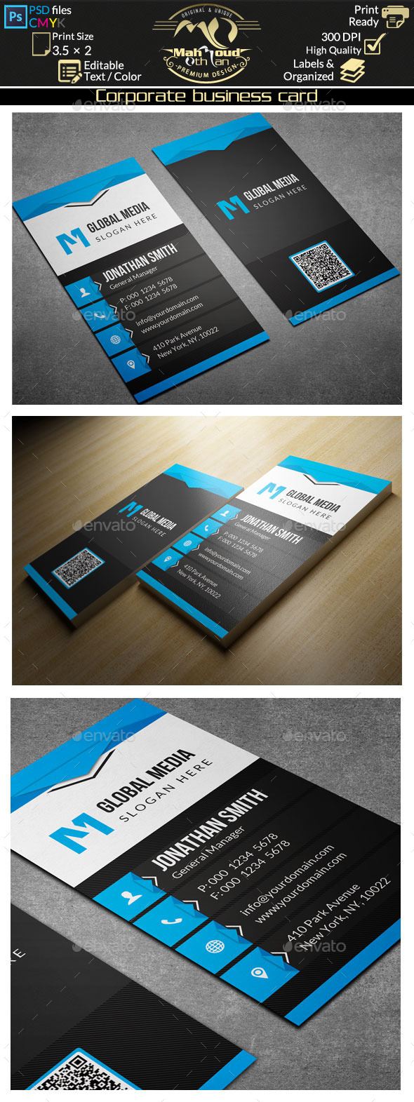Corporate Business Card 68 - Corporate Business Cards