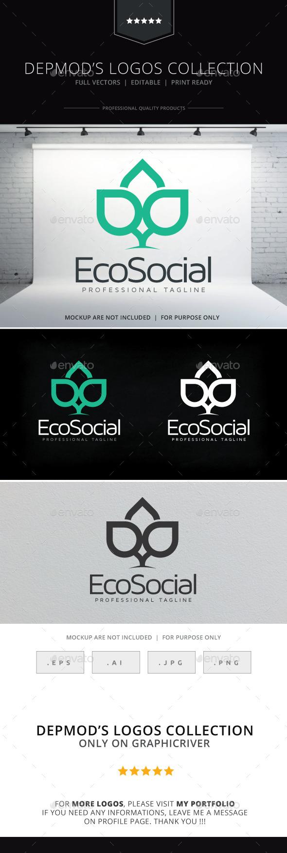 Eco Social Logo - Nature Logo Templates