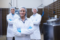 Biologist team standing smiling with arms crossed in the factory - PhotoDune Item for Sale