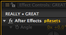 Really Great After Effects Presets