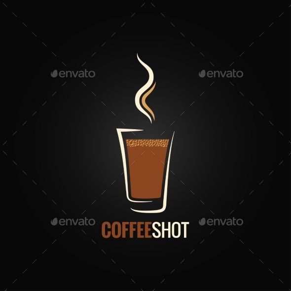 Coffee Shot Glass Design - Food Objects