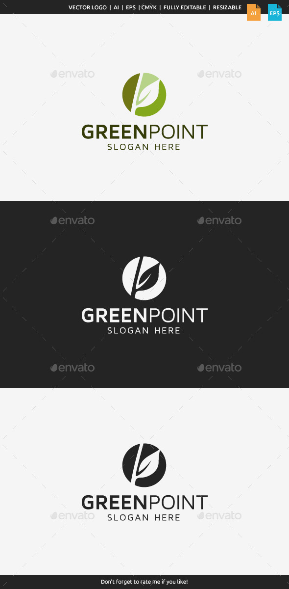 Green Point Logo - Nature Logo Templates