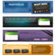 5 stylish web headers - GraphicRiver Item for Sale