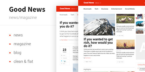 Good News — News & Magazine Template