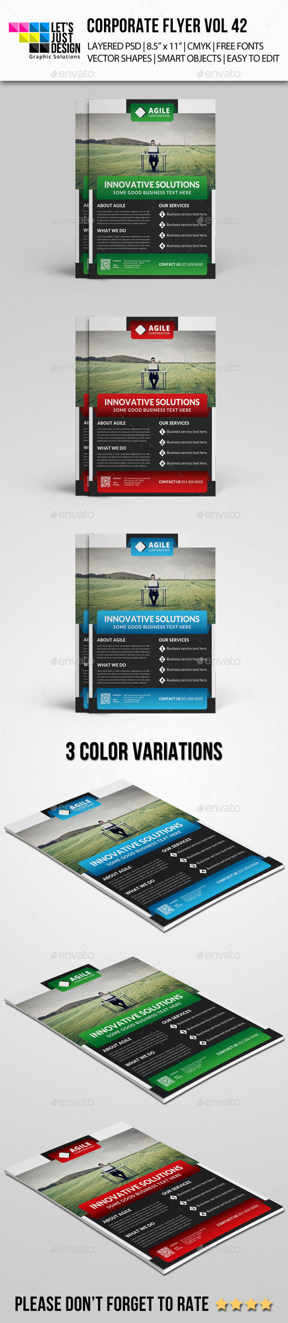 Corporate Flyer Template Vol 42 - Corporate Flyers