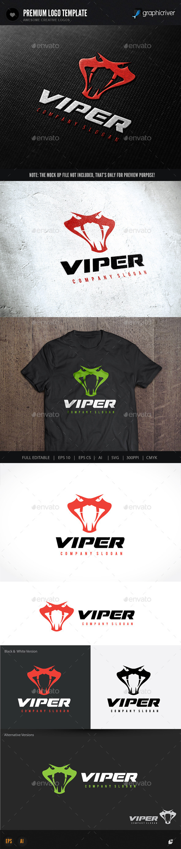 Viper - Animals Logo Templates