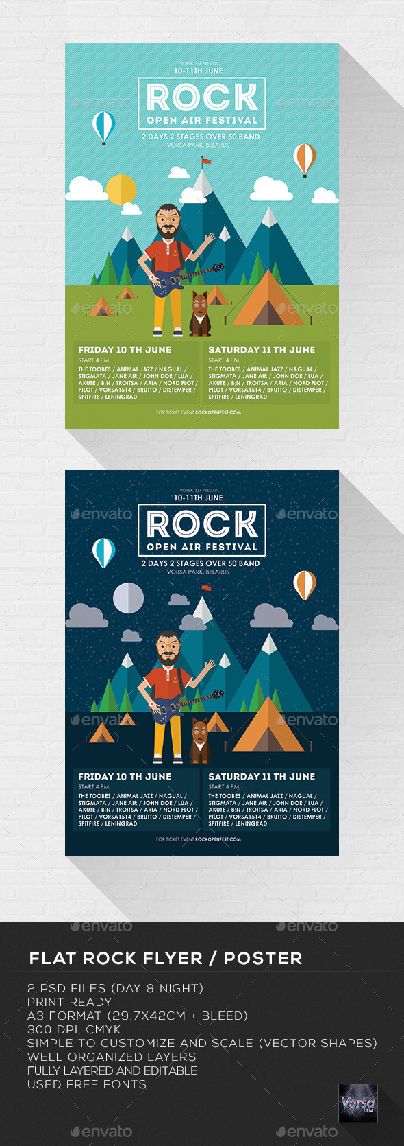 Flat Rock Flyer / Poster - Concerts Events