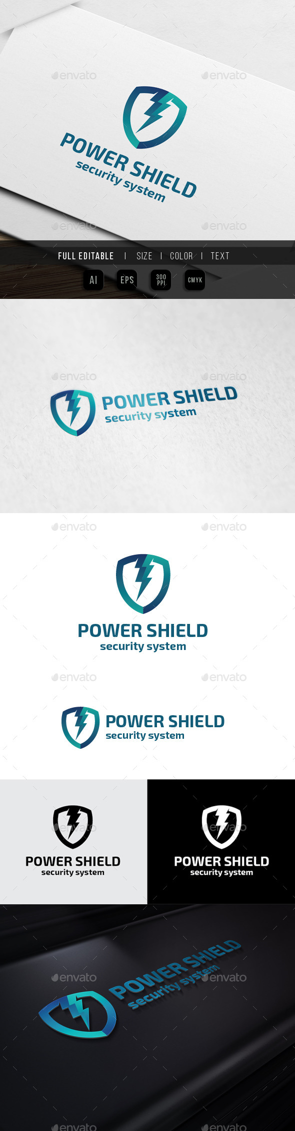 Energy Shield - Security System - Symbols Logo Templates