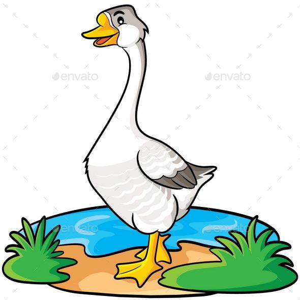 Goose Cartoon - Animals Characters