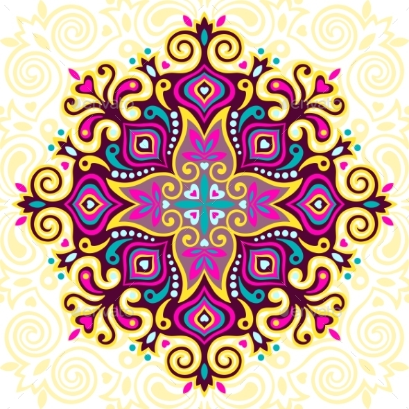 Flower Mandala - Decorative Symbols Decorative