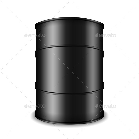 Black Oil Barrel - Man-made Objects Objects